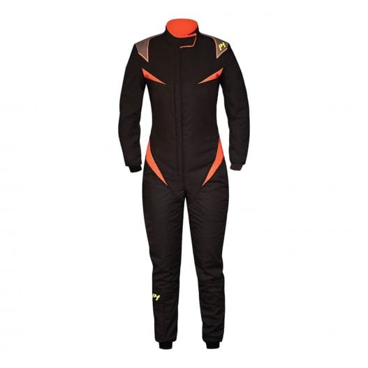 P1 Donna Racing Suit – 2018 – Black & Orange