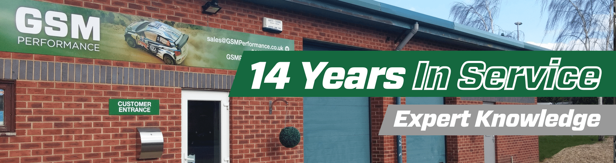 14 Years in Service – Expert Knowledge – www.gsmperformance.co.uk Hero Image – October 2017