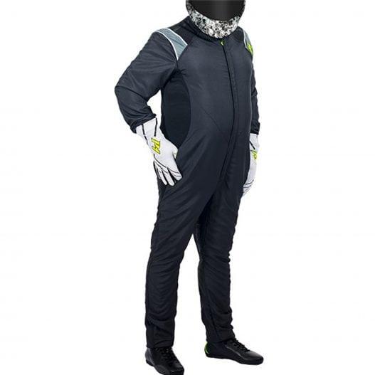 P1 RS-Plus Racing Suit – 2018 – Black – Front