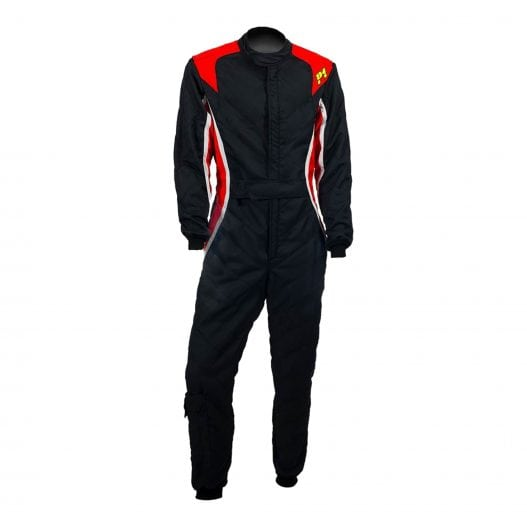 P1 Turbo Racing Suit – 2018 – Black, Red & Silver